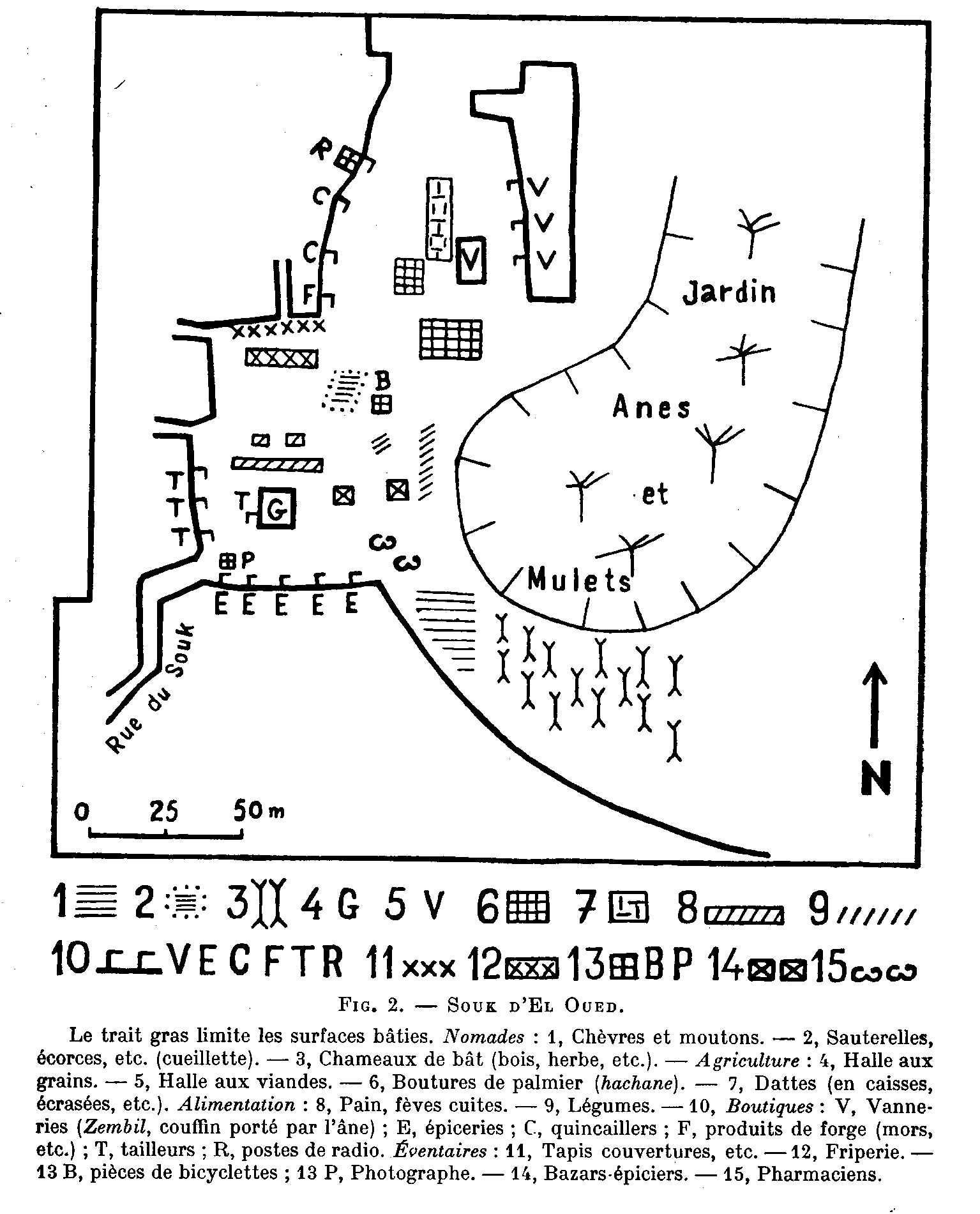 le souk hebdomadaire d'El Oued en 1960