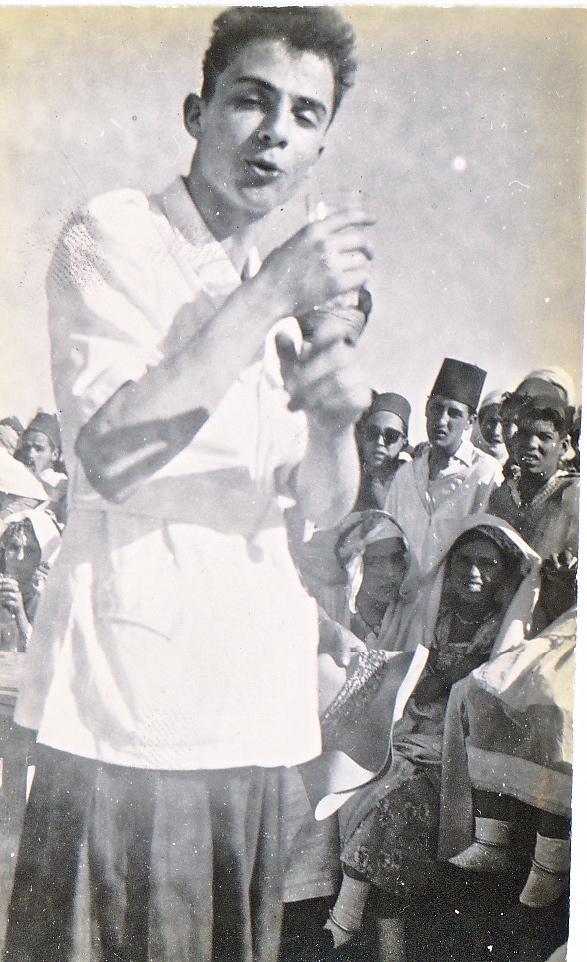 Algérie coloniale: près de Biskra, Ouled Djellal vers 1947, Claude Bataillon
