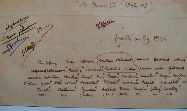 même photo, list des personnages, 1942-43