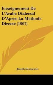 couverture du manuel d'arabe de Joseph Desparmet, père de Jean Desparmet