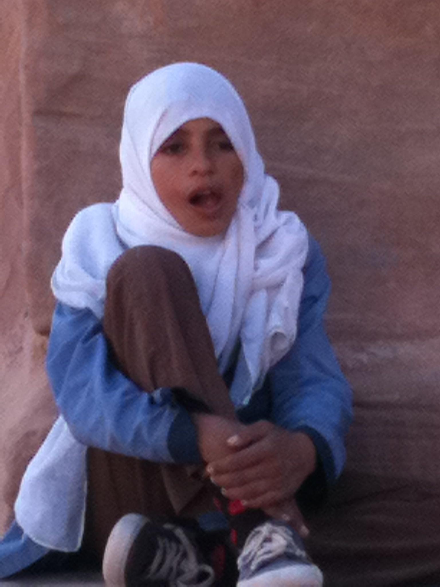 A Petra, jeune vendeuse sur le site
